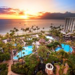 Exterior sunset view The Westin Maui Resort & Spa, Ka'anapali.  Courtesy image, Sumithra Balraj/Westin Maui.