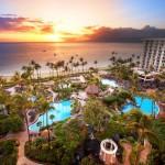 Exterior sunset view The Westin Maui Resort & Spa, Ka'anapali.  Courtesy image, Sumithra Balraj/Westin Maui.