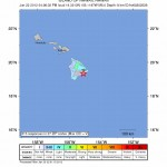 Map courtesy USGS, Hawaii earthquake 1/22/12.