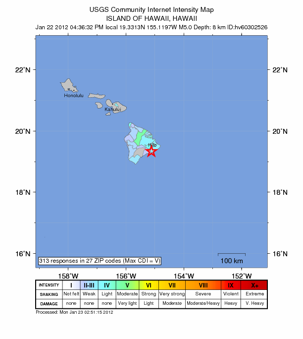 Maui Now Pelim Magnitude Kilauea Earthquake No Tsunami Threat - Maui zip codes
