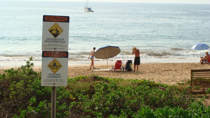High Bacteria Count at Kamaole Beach I, Maui