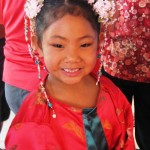 Nayshelle Dumaran, 5 of Kahului won first place for girls for her traditional Chinese costume. Susan Halas photo.