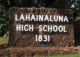 Lahianaluna High School Sign. File photo.