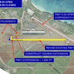 The DOT's Option 3 is the most expensive, but would result in the least amount of impact for incoming air traffic. Graphic courtesy Hawaii Department of Transportation.