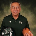 Hawaii head football coach Norm Chow. UH Athletics photo.