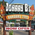 Johnny B's in Paia Town is now open. The menu features burgers, fries and shakes. Susan Halas photo.