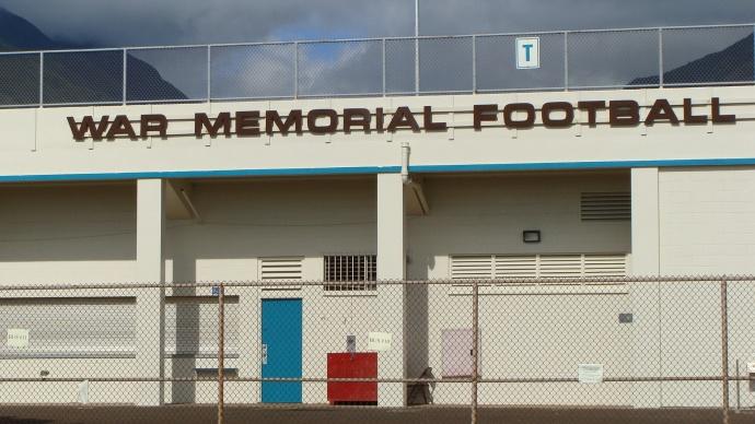 War Memorial Stadium, Wailuku.  Photo by Wendy Osher.