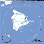 4.3 magnitude Kilauea Summit quake reported at 3:53 a.m. on 2/24/12.  Map courtesy USGS.