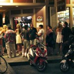 In front of Kimo's at last month's Lahaina Second Friday. Courtesy Photo.
