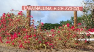 Lahainaluna, file photo by Wendy Osher.