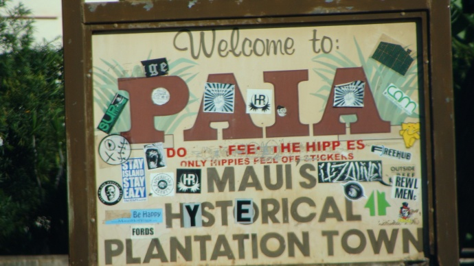 Welcome sign to Paia. File photo by Wendy Osher.