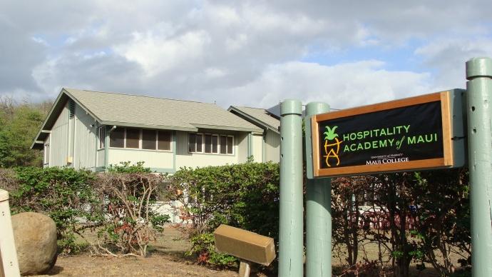 UHMC Hospitality Academy of Maui blessing 2/8/12. Photo by Wendy Osher.