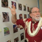 Governor Neil Abercrombie visits reWailuku site 2/9/12. Photo by Wendy Osher.