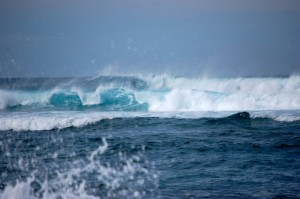 High surf at Ho'okipa Beach on the North Shore. File photo by Madeline Ziecker.
