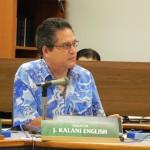 Sen. J. Kalani English was among the WAM Committee members who voted in support of SB2012. Photo courtesy Senate Communications.