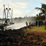 Pacific Maid vessel fire.  Courtesy photo: John Kenolio/Lahaina Photography.