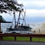 Pacific Maid vessel fire.  Courtesy photo: John/Lahaina Photography.