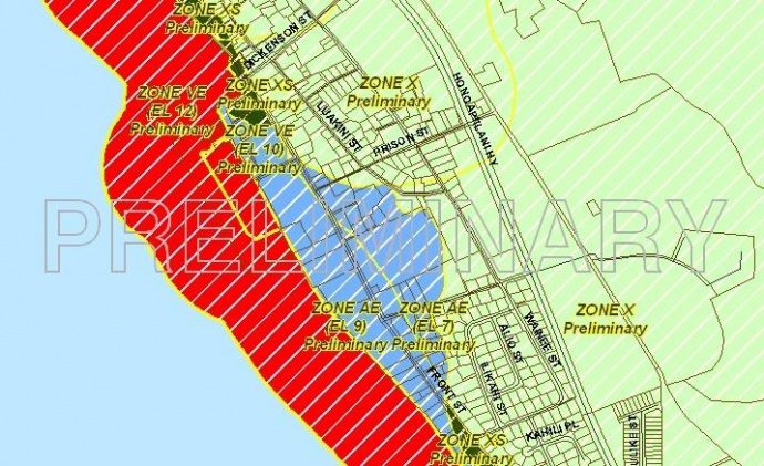 Maui Now New Flood Maps May Mean Higher Flood Insurance - Flood zone maps by address