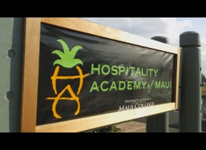 Hospitality Academy of Maui Blessing 2/8/12. Photo by Wendy Osher.
