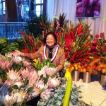 Congresswoman Mazie Hirono helps share Hawaii's beautiful protea, ginger, and birds of paradise at the 2012 Philadelphia Flower Show. Courtesy photo.