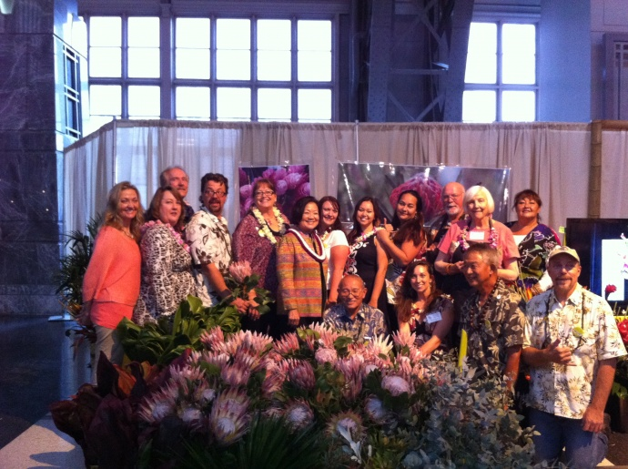 Flower growers from Maui show off their world famous protea at the restigious 2012 Philadelphia Flower Show.  Courtesy photo.