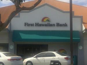 First Hawaiian Bank, Kihei branch. Photo by Sonia Isotov