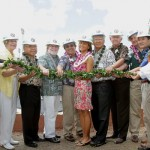 A groundbreaking ceremony was held Tuesday on the grounds of the new Clarence T.C. Ching Athletics Complex. Dignitaries included Governor Neil Abercrombie. Photo by UH Athletics/SID.