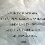 Bogus hālau fundraiser scam. Courtesy photo.