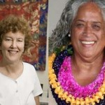 Mary Evelyn Tucker (left), Pualani Kanaka'ole Kanahele (right).  Courtesy photos.