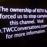 Hawaii television station KITV has posted this message to explain why it is not on the air for Oceanic Time Warner Cable customers. Photo courtesy of Hawaii News Now.