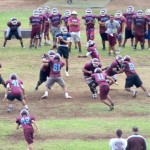 Baldwin High School has three weeks to prepare for its 2012 non-league opener on Saturday, Aug. 25, against Saint Louis School at Aloha Stadium, beginning at 5 p.m. Photo by Rodney S. Yap.