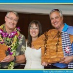 Dr. Martin (right) receives Palaka Award for his exceptional leadership service at the Carden Academy. Photo courtesy of Carden.