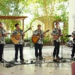 Students in the Institute of Hawaiian Music playing at the Fairmont Kea Lani as part of the Aloha Friday Summer Concert series. Courtesy photo, UHMC.