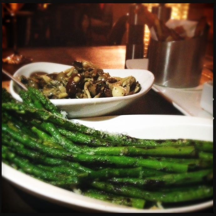 The outstanding asparagus at Duo