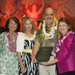 Radiation oncologist Dr. Bobby Baker (third from left) was honored with the American Cancer Society's first Mana Olana Award on Maui. Congratulating Baker from left are: American Cancer Society Chief of Staff Jackie Young; Baker's wife, Julie; and Sen. Roz Baker of West Maui, a cancer survivor and board director for the American Cancer Society. Courtesy photo.