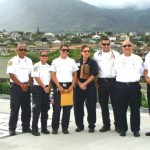 Medics and emergency responders pose for a picture during the dedication in September of 2011, of the helipad at the Maui Memorial Medical Center.  The helipad is used in the transport of patients via Medevac for emergency medical care. File photo by Wendy Osher.