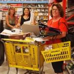 Haiku School Faculty Lisa Daly, Deanna Kiersz, and Karen Figueira enjoying the shopping spree. Courtesy of Haiku Elementary School.