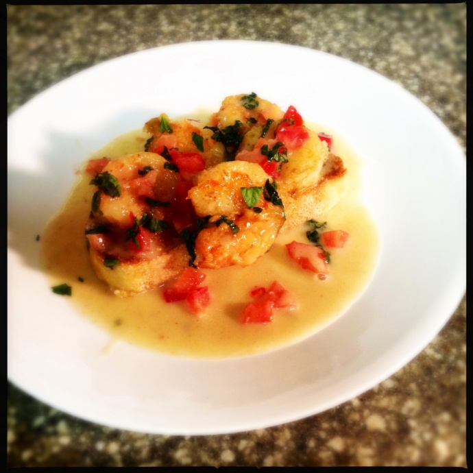 Shrimp Longhi-cooked by Vanessa Wolf