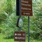 Kipahulu, Haleakala National Park signage.  Photo by Wendy Osher.