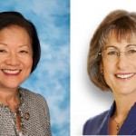 Mazie Hirono, left, and Linda Lingle. 2012 US Senate candidates.