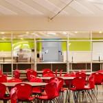 Interior of Lahainaluna new cafeteria.  Image courtesy Ferraro Choi, Sustainable Architecture.