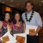 Pacific Biodiesel's Jenna Long (center) won the 2012 SMEI Distinguished Sales & Marketing Award. Photo courtesy of Pacific Biodiesel.