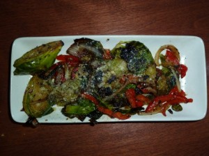 torched Brussels sprouts-monkeypod