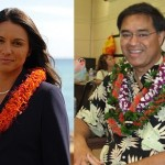 Tulsi Gabbard (courtesy photo), left, and Mufi Hanneman (UH photo).