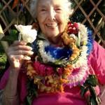 The irrepressible Emily O'Neil Bott celebrates her 90th birthday last May. Courtesy photo.