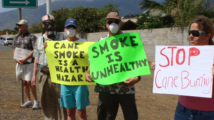 hc&s cane burning protest
