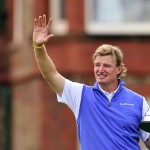 Ernie Els holds the Claret Jug, 'The Golf Champion Trophy' after winning the 2012 British Open Golf Championship at Royal Lytham and St Annes in Lytham. Photo by AFP.