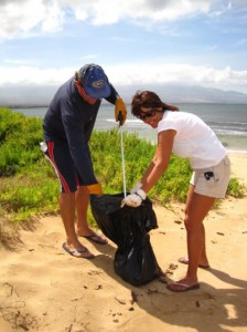 Beach cleanup. File photo courtesy of Maui Ocean Center.