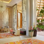 The renovation updated public areas including the lobby and entryway. Photo courtesy of Hyatt Regency Maui Resort & Spa.