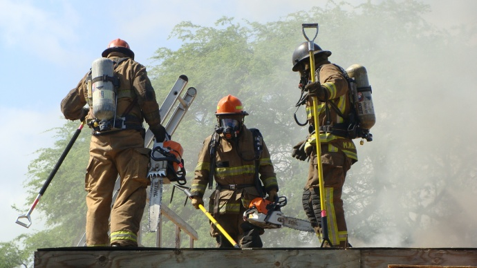 Maui firefighters. File photo by Wendy Osher.